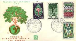 1960  Congrès Mondial Des Forêts  FDC - Tunisia