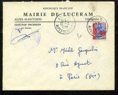 Enveloppe Pub-0890  Mairie De Luceram 12-03-1960 - Marcophilie (Lettres)