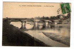Cp , 18 , SAINT-AMAND-MONTROND , Le Pont Du Cher , Voyagée 1913 - Saint-Amand-Montrond