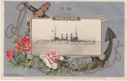 Great White Fleet Visits Japan 1908 Commemorative Postcard Issued By Japanese Dept. Of Communication - Japan