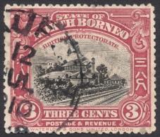 North Borneo, 3 C. 1909, Sc # 138, Mi # 129, Used - North Borneo (...-1963)