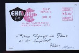 LE PRE SAINT GERVAIS  TES EHM 1948 - EMA ( Maquina De Huellas A Franquear)