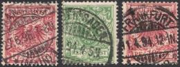 Germany, 3 Stamps: 5 Pf., 10 Pf. 1889, Sc # 47, 48, Mi # 46, 47, Used (2) - Germany