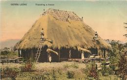 SIERRA LEONE THATCHING A HOUSE - Sierra Leone
