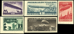 Russia (USSR) 1931 .05 OG _Free Reg. Shipping_ Airship Constructing In USSR - Ongebruikt