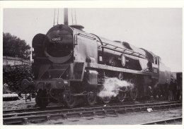 Railway Postcard SR MN 35022 Bournemouth MPD Holland America Line Southern Loco Repro - Trains