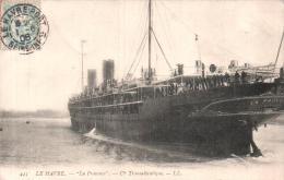 76 LE HAVRE LA PROVENCE CIE TRANSATLANTIQUE CIRCULEE 1906 - Paquebote