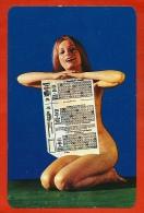 Petit Calendrier Publicitaire 1973 - (Lotto Toto) Loto Loterie Erotique Sexy Pin-Up - PUB Publicité (Hongrie) - Calendriers