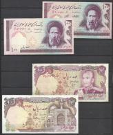 IRAN . LOT DE QUATRE BILLETS DE 100 RIALS . - Iran