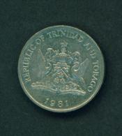 TRINIDAD AND TOBAGO - 1981 25c Circ - Trinidad & Tobago