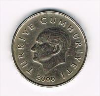 - TURKIJE  50 BIN  LIRA   2000 - Turquie