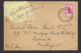 NEW ZEALAND Postal History Cover To USA 16-12-1926 As Per Scan - 1907-1947 Dominion