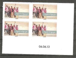 Coin Datée Adhésif - Esprit D´équipe (pro) 06-06-13 - Adhésifs (autocollants)