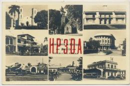1949 Centenario De Chiriqui Airport DC4 Copa , Train Station HP3DA Radio Card P. Used - Panama