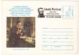 LOUIS PASTEUR COLOCVIUM, SCIENCE IN THE SERVICE OF MAN, COVER STATIONERY , UNUSED, ROMANIA - Louis Pasteur