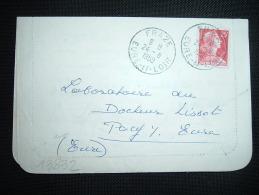 CL TP MARIANNE DE MULLER 25F OBL. 24-8-1959 FRAZE (28 EURE ET LOIR) - Marcophilie (Lettres)