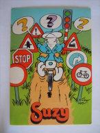Sticker Autocollant Smurf Smurfs Verkeers Schtroumpf Circulation Fiets Vélo Cycliste Peyo Suzy Wafels Gaufres Belgique - Stickers