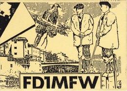 Amateur Radio QSL Card France FD1MFW Mont-de-Marsan Passerieux - Radio Amateur