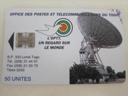 Togo Chip Phonecard,TOG-06b, Used(reverse B)