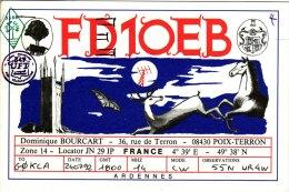 Amateur Radio QSL Card France FD1OEB Poix-Terron Ardennes - Radio Amateur
