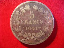 5 Francs Louis-Philippe 1831 T Nantes 4855 - J. 5 Franchi