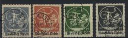 Deutsches Reich Michel No. 134 - 138 gestempelt used / No. 138 R�ckseite etwas verf�rbt