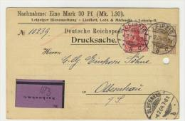 Deutsches Reich Drucksache Nachnahme