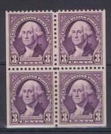 ED - 32 - ETATS UNIS N° 313 Neuf**  Bloc De 4 Non-dentelé Sur 3 Côtés - Unused Stamps