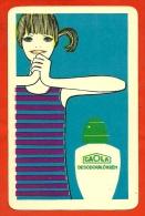 """Petit Calendrier Publicitaire 1968 - Illustrateur - Déodorant """"CAOLA"""" Hygiène - PUB Publicité (Hongrie) - Calendriers"""