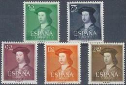 ESPAÑA 1952 - Edifil #1106/10 - MNH ** - 1951-60 Nuevos & Fijasellos