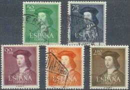 ESPAÑA 1952 - Edifil #1106/10 - VFU - 1951-60 Nuevos & Fijasellos