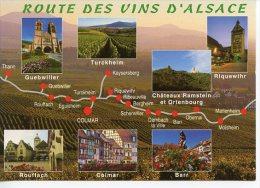 Route Vins D´Alsace Géographique : Than Rouffach Turckeim Barr Molsheim Dambach Multivues N°EBC86 - France