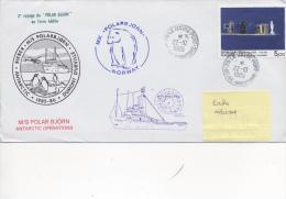 """2ème Voyage """"POLARBJORN"""" En Terre Adélie - 4 Cachets Différents - CAD LE HAVRE 22/10/1985 Sur TP France - Postmark Collection (Covers)"""