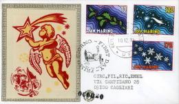 1978 NATALE  FDC SAN MARINO FILAGRANO GOLD - FDC