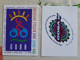 2 Cartes Cyclisme Vélo Great Ohio Bicycle Adventure - Cycling