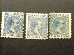 CUBA  Año  1896 -1897  --  REY ALFONSO XIII  --  Edifil Nº 149 * MH   --  Yvert Nº 92 * MH - Kuba (1874-1898)