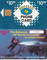 BAHAMAS ISL.(chip) - Eco Tourism Bahamas/Diving(BAH C9), Chip GEM1, Used - Bahamas