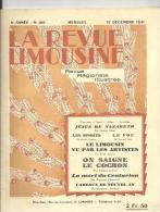 La Revue Limousine Revue Régionale Illustrée Du 15/12/1931 N° 109 - Limousin