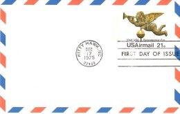 USA Unaddressed FDC 21c Airmail Visit USA Postal Stationery Card Postmarked Kitty Hawk NC Dec 17 1975 - Postal Stationery