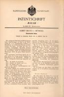 Original Patentschrift - A. Bruno In Detmold , 1894 , Scheitrechte Decke , Hochbau , Maurer , Hausbau , Architekt !!! - Architektur