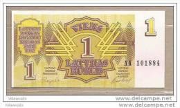 Lettonia - Banconota Non Circolata FdS Da 1 Rublo P-35 - 1992 - Latvia