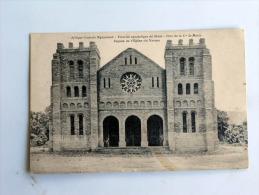 Carte Postale Ancienne : Afrique Centrale Nyasaland : Façade De L´église Du NZAMA En 1917 - Malawi
