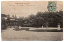 CP, 85, LUCON, Jardin Dumaine - Le Kiosque Et Le Bassin, écrite ,voyagé En 1907 - Lucon