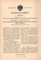 Original Patentschrift - C. Thieme In Falkenrehde , Mark , 1894 , Schutz Für Dach , Dachdecker , Feuerwehr , Ketzin !!! - Architektur