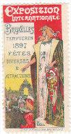 ERINNOFILO - VIGNETTA - CINDERELLA -  1897 BRUXELLES TERVUEREN - Erinnophilie