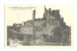 Cp, 86, Chauvigny, Le Château Baronnial, Vue Prise Au Bord Du Ruisseau Le Talbat - Chauvigny