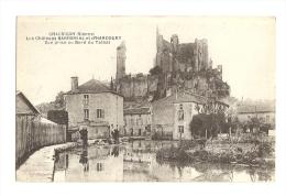 Cp, 86, Chauvigny, Les CHâteaux Baronnial Et D'Harcourt, Vue Prise Au Bord Du Talbat - Chauvigny