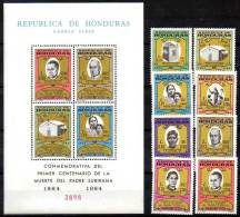 Honduras 1965 MISSIONARY TO INDIANS + S/S SC#C369-76a CV.$27.70 MNH RELIGION - American Indians