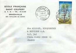 1981  Lettre   Pour La France   Palmier - Congo - Brazzaville