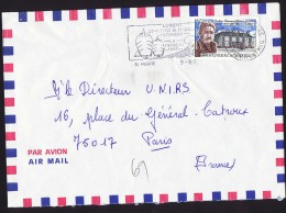 1987   Lettre Avion Pour La France  Dr F. Dunan Yv 477 - Lettres & Documents